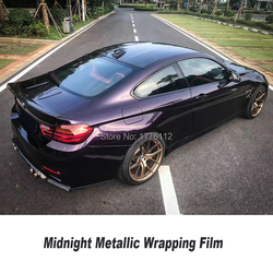 Newest color Midnight  metallic  Purple wrapping film Vinyl wrap Vehicle wrap Car Wrap bubble free Latest fashion
