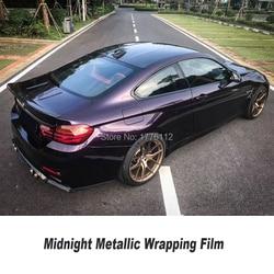 Nieuwste Kleur Midnight Metallic Paars Wrapping Film Vinyl Wrap Voertuig Wrap Car Wrap Bubble Gratis Laatste Mode