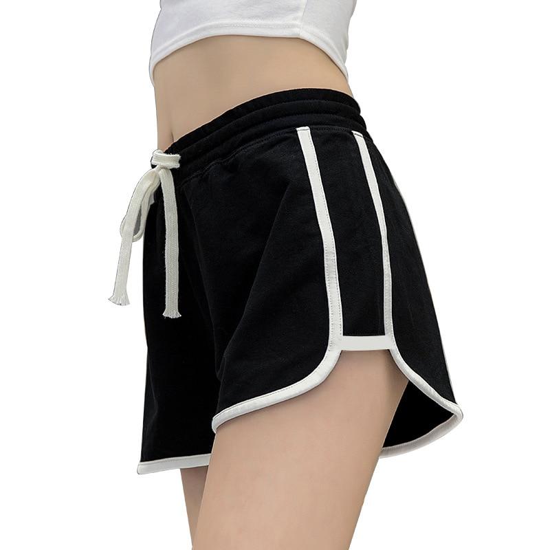 Fashion Summer Casual Shorts Woman Stretch Elastic Waist Booty Shorts Female Black White Loose Beach Sexy Shorts S-XXL 6