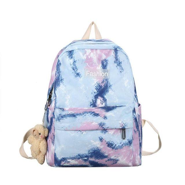 Купить женский рюкзак с галстуком краской разноцветный школьный дорожный картинки цена