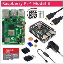 Boîtier dorigine britannique Raspberry Pi 4 modèle B 1/2/4 go RAM BCM2711 Option