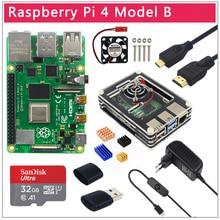 Original UK Raspberry Pi 4รุ่นB 1/2/4GB RAM BCM2711ตัวเลือกกรณี