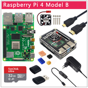 Image 1 - Original UK Raspberry Pi 4 Model B 1/2/4GB RAM BCM2711 Option Case