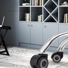 Furniture Wheels Caster Safe-Roller Rubber Office-Chair Mute Universal Replacement NAIERDI