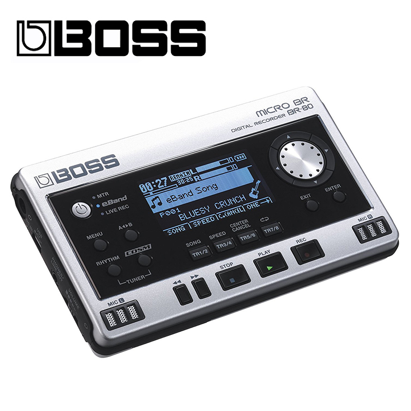 Boss Audio BOSS BR80 Micro Br-80 Digital Recorder  Metri Multi Track Silver Ultimate New Portable Recording
