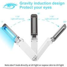 USB Portable UVC Sterilization Stick Disinfection Lamp Personal Traveling Sterilizer UV Sanitizer Light Hand Folded UV Lights