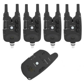 Elektroniczny sygnalizator brania ryb 4+1 urządzenie wędkarskie ABS lampa LED alarm dźwiękowy wskaźnik położenia akcesoria tanie i dobre opinie VBESTLIFE CN (pochodzenie) Rybi dzwonek alarm Fishing Bite Alarm indicator LED lamp Fishing Tackle Boxes Black Approx 13 5*5 3cm 5 31*2 09inch