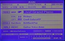 Mới Nguyên Bản Dành Cho Xe Yamaha PSR S500 S550 S650 MM6 Màn Hình LCD Màn Hình Bảng Điều Khiển Màn Hình Yamaha DGX520 DGX630 DGX640 Clavinova CVP 501