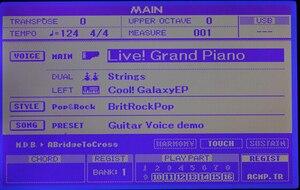 Image 1 - ใหม่สำหรับYamaha PSR S500 S550 S650 MM6หน้าจอLCDประกอบจอแสดงผลYamaha DGX520 DGX630 DGX640 Clavinova CVP 501