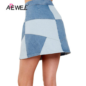 Image 3 - ADEWEL Sexy High Waist Skirt Denim Bodycon Long Skirt Office Ladies Wear Women Casual Elegant Pencil Skirt Party Denim Skirt