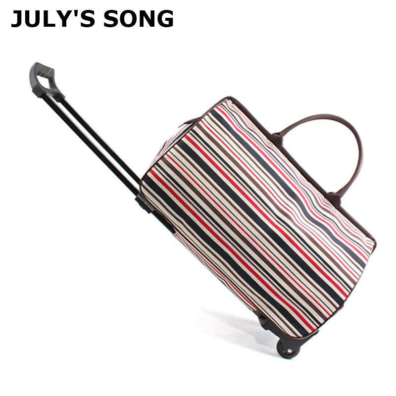JULY'S SONG Rolling Suitcase Bag Waterproof Luggage Bag Women Men Portable Travel Bag Trolley Case Travel Luggage With Wheels