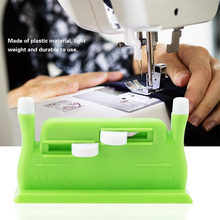Automatic Needle Threader Double Hole Insertion Needle Threading With 5Pcs Sewing Needles DIY Easy Thread Needle Hand Tools new needle threader insertion applicator handle thread machine sewing tool 7 5cm dropshipping
