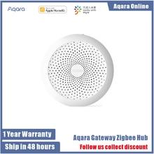 Original Aqara Wireless Smart Gateway Hub Licht Zigbee Verbinden mit Alarm System Remote Monitor Control Arbeitet mit IOS HomeKit