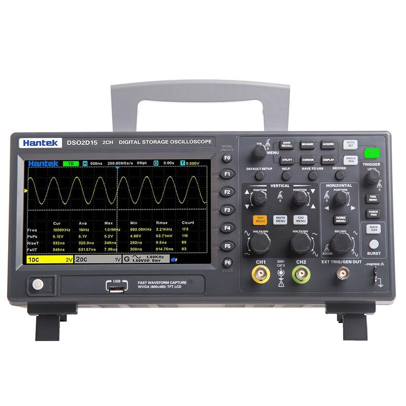 Цифровой осциллограф Hantek DSO2C10 2C15 2D10 2D15 двухканальный осциллограф 100 м 150 м 1GS/s