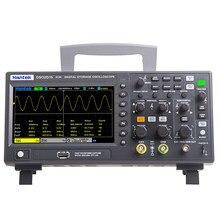Osciloscópio digital dso2c10 2c15 2d10 2d15 da geração do sinal de hantek osciloscópio duplo 100m 150m 1gs/s