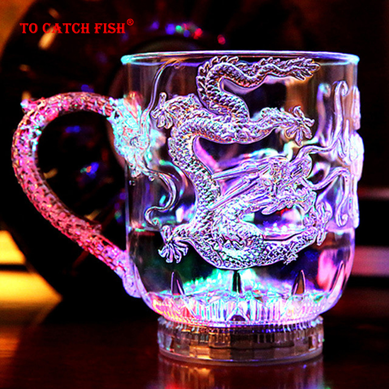New exotic LED Colorful Flashing <font><b>Cup</b></font>,Dragon Wine <font><b>Cup</b></font>, wedding, bar, celebration props glowing toys image