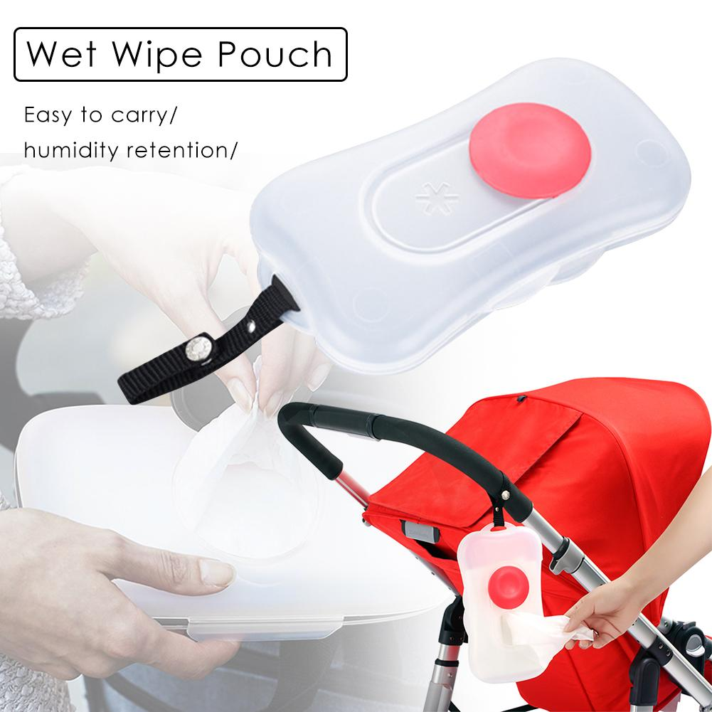 On-the-Go Snug Seal Baby Wipes Case Wet Wipe Box Portable Convenient Wet Wipe Pouch For Baby Use Dispenser For Stroller