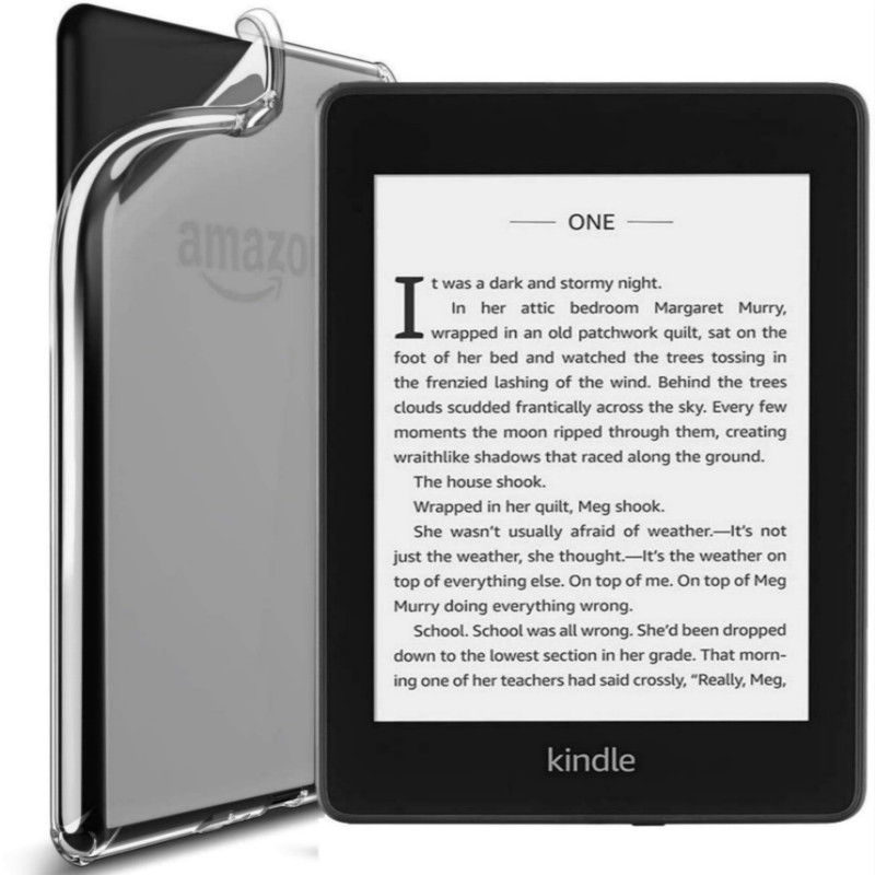 Case for 2018 New Amazon Kindle Paperwhite 1/2/3/4 6inch E-reader Book Cover 360 Full Protetive Shockproof Soft Clear Slim Case