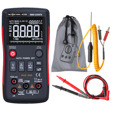 RM409B Цифровой мультиметр Кнопка 9999 отсчетов с аналоговым гистограммой AC/DC Напряжение Амперметр Ток Ом Авто/руководство