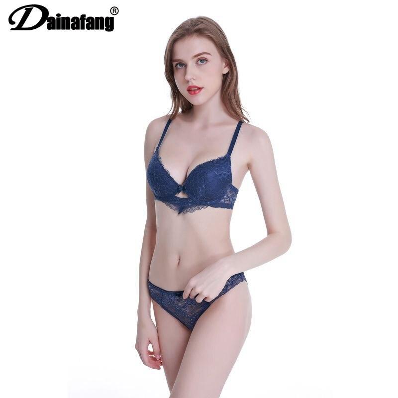 2-Piece / Set Push Up Bra Set Slimgirl Women Large Size Health Lace Underwire Bra & Brief Sets Sexy Underwear Female Underwear