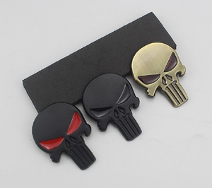 Image 3 - 3D 금속 Punisher 자동차 스티커 해골 오토바이 바디 데칼 트럭 엠블럼 배지 방수 자동차 액세서리