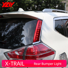 Rear Bumper Light X-TRAIL 2014-2016 Car LED Reflector Rear Fog Lamp  High brake light Brake Light Rear warning light