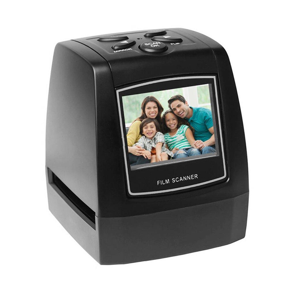 Портативный сканер пленочного негатива, конвертер слайдов, пленки 35 мм 135 мм, устройство для просмотра цифровых фотоизображений с 2,4-дюймовы...