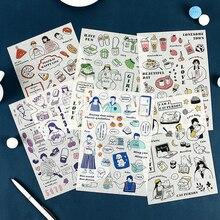 Mohamm 1 Лист наклейки Happy Source серия Плоские наклейки милые свежие декоративные стационарные Скрапбукинг подарок для девочек школа Suppli