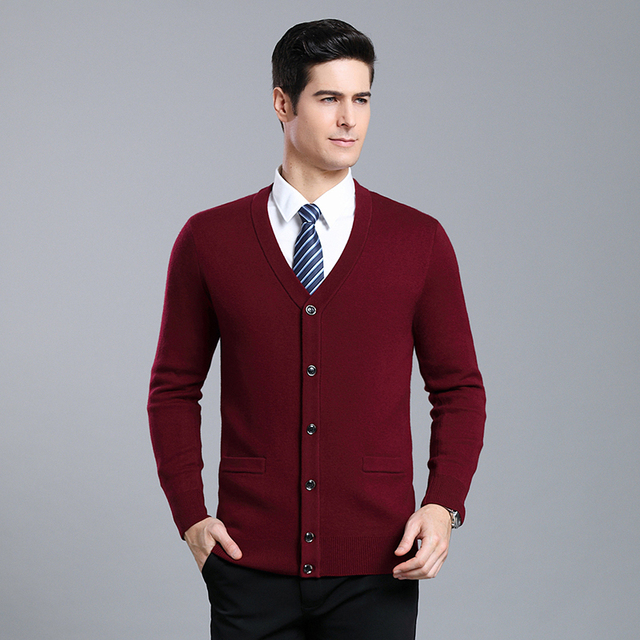 Gruby 2020 nowa marka modowa wysokiej jakości swetry męski kardigan V Neck Slim Fit swetry dzianina zimowa Casual odzież męska