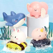 Jouets de bain pour bébé de 2 à 4 ans, jouets de bain pour enfants de 0 à 12 mois, horloge, requin, canard, baignoire et douche, 2021