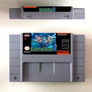 Image 2 - Secret de Mana ou Secret de Mana 2 carte de jeu RPG Version américaine batterie de langue anglaise économiser