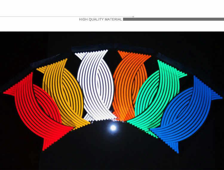 """Новинка! 16 шт. полоски наклейки на колеса и наклейки 14 """"17"""" 18 """"светоотражающий обод ленты мопед мотоцикл автомобиль ленты 7 цветов стайлинга автомобилей"""