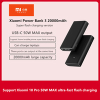 Original Xiaomi Power Bank 3 20000mAh Super Flash Charge Edition(PB2050ZM)Compatible with 3 smart devices at the same time