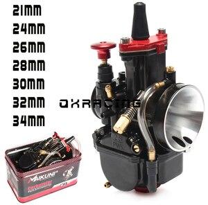 높은 품질 21 24 26 28 30 32 34mm PWK 기화기 MAIKUNI 2T 4T 엔진 오토바이 스쿠터 UTV ATV 유니버설
