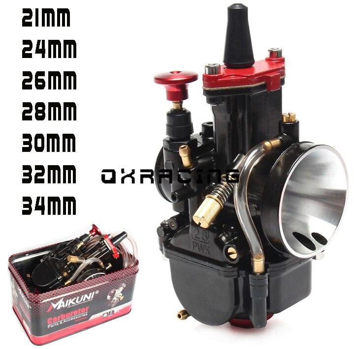 Carburador de alta calidad 21 24 26 28 30 32 34mm MAIKUNI PWK para motocicleta de motor 2T 4T scooter UTV ATV universal