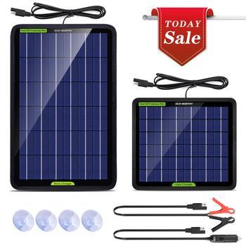 ECO-WORTHY 12V 5W10W Watt przenośna ładowarka do panelu słonecznego utrzymuje zacisk krokodylkowy do łodzi RV pojazdu tanie i dobre opinie ECO-WORTHY CN (pochodzenie) Panel słoneczny 12V 5w solar charger 220*190mm L02EP5BB18V-1 36pcs solar cells Krzem polikrystaliczny