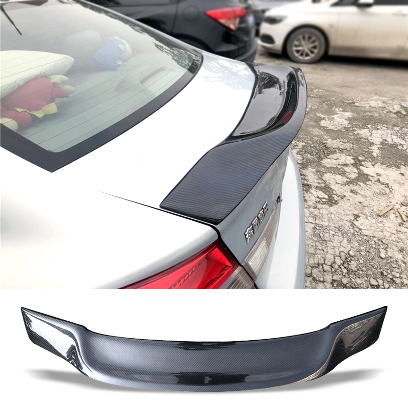 Car Trunk Spoiler Carbon Fiber FRP Auto Rear Trunk Wing R Style Refit Accessories Spoiler For Honda civic 2012-2013