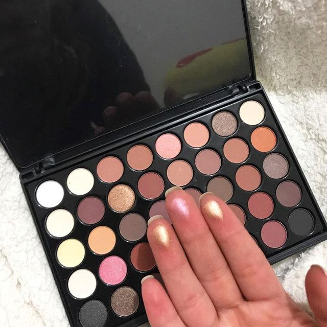 40 Colors Shimmer Glitter EyeShadow Palette Waterproof Diamond Nude Matte Eye Shadow Cosmetic Long Lasting Eye Primer Pigment 2