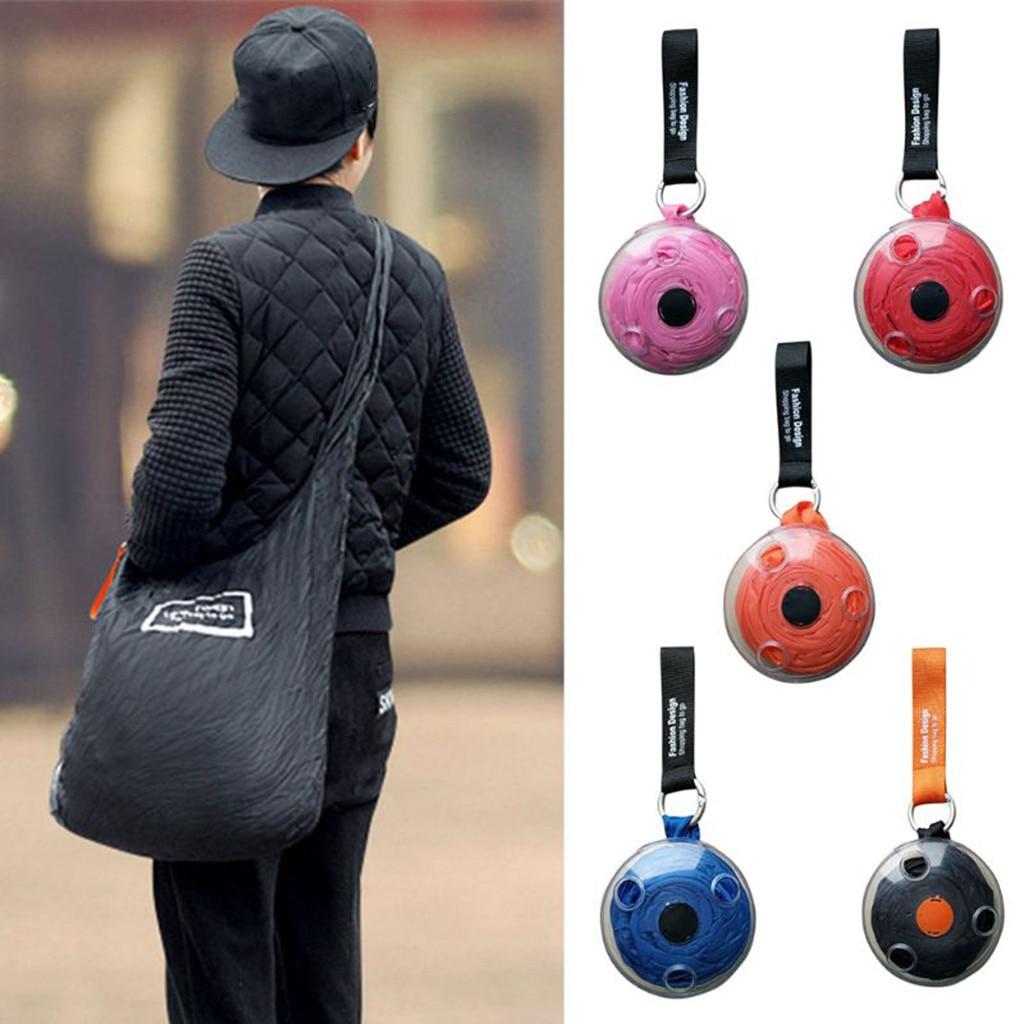 Fashion Creative Foldable ECO Grocery Bag Folding Shopping Organizer Eco Storage Reusable Shoulder Bag Large Capacity Handle Bag