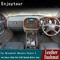 Для Mitsubishi Montero Pajero 3 V77 V75 V73 2000 2001 2002 2003 2006 кожа приборной коврик на приборную панель тире коврик ковер автомобиля RHD