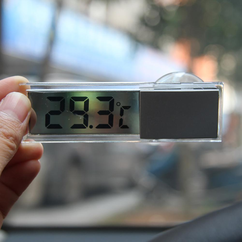 Car Vehicle Suction Cup Electronic Digital Transparent LCD Display Thermometer