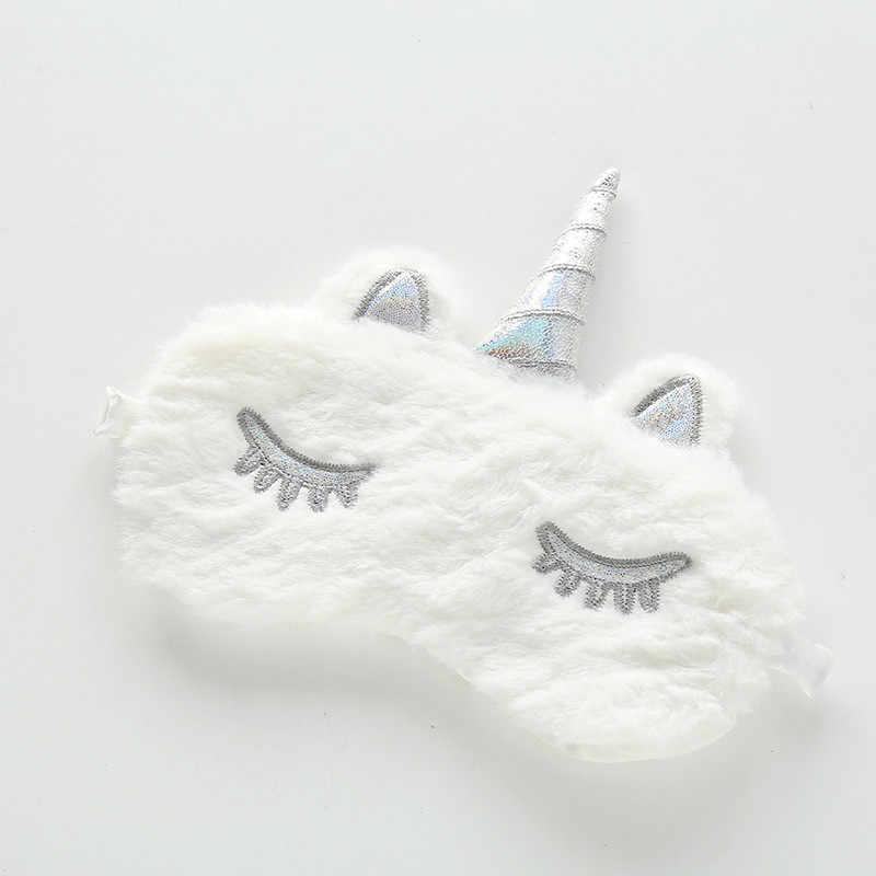 1 Pc Cute Kartun 3D Shading Masker Mata Lembut Mewah Empuk Tidur Pelindung Mata Mata Seluruh Penutup Mata Bersantai Penutup Pelindung Mata Mata Mata perawatan Alat