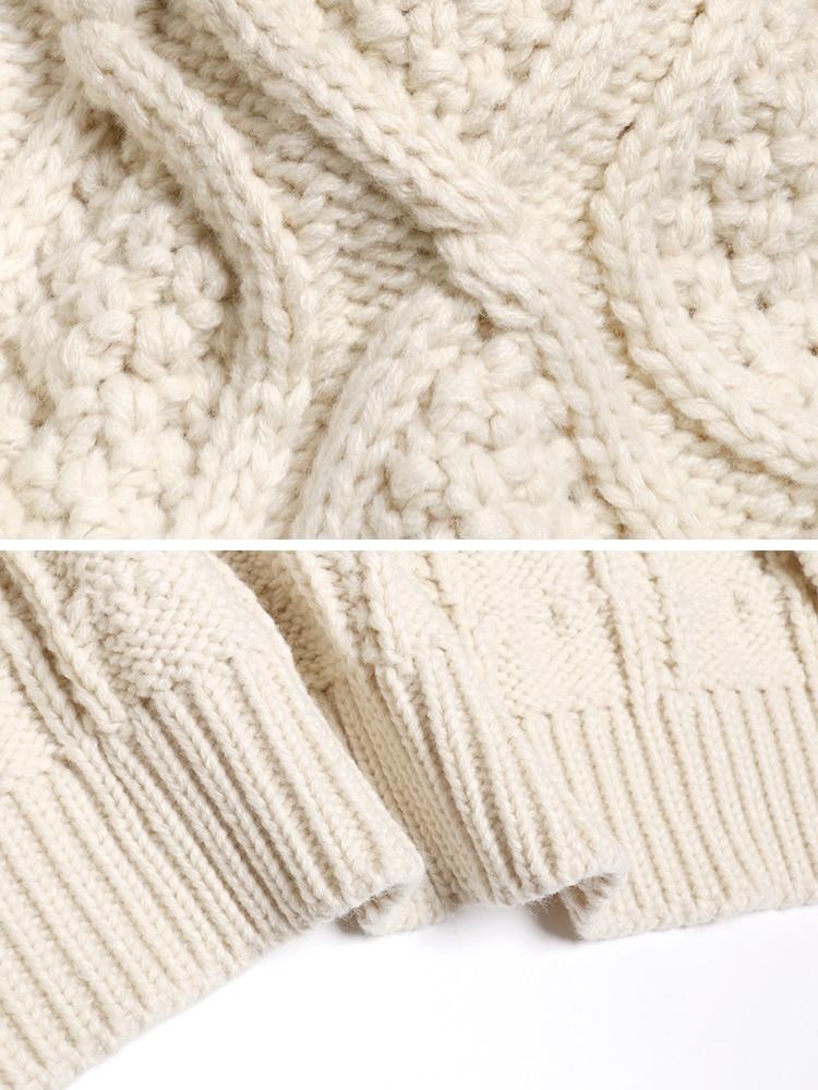 Женский толстый свитер xuxi вязаный с длинным рукавом уличная