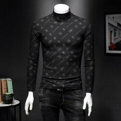 Хит, английская Дизайнерская мужская футболка, Осень-зима 2019, Лондонский бренд, с принтом, облегающий крой, длинный рукав, топы, футболки, руб...