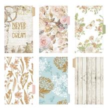 Planner Binders Notebook-Divider Diary-Paper Index-Separator Students-Supplies Flower-Style