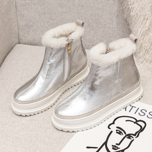 Plus Size 34-43 New Top Quality Genuine Leather Woman Snow Boots Fashion Platforms Winter Boots 100% Natural Fur Warm Wool Boots mylrina top quality genuine sheepskin leather natural fur snow boots 100% real wool non slip new fashion waterpoof women boots