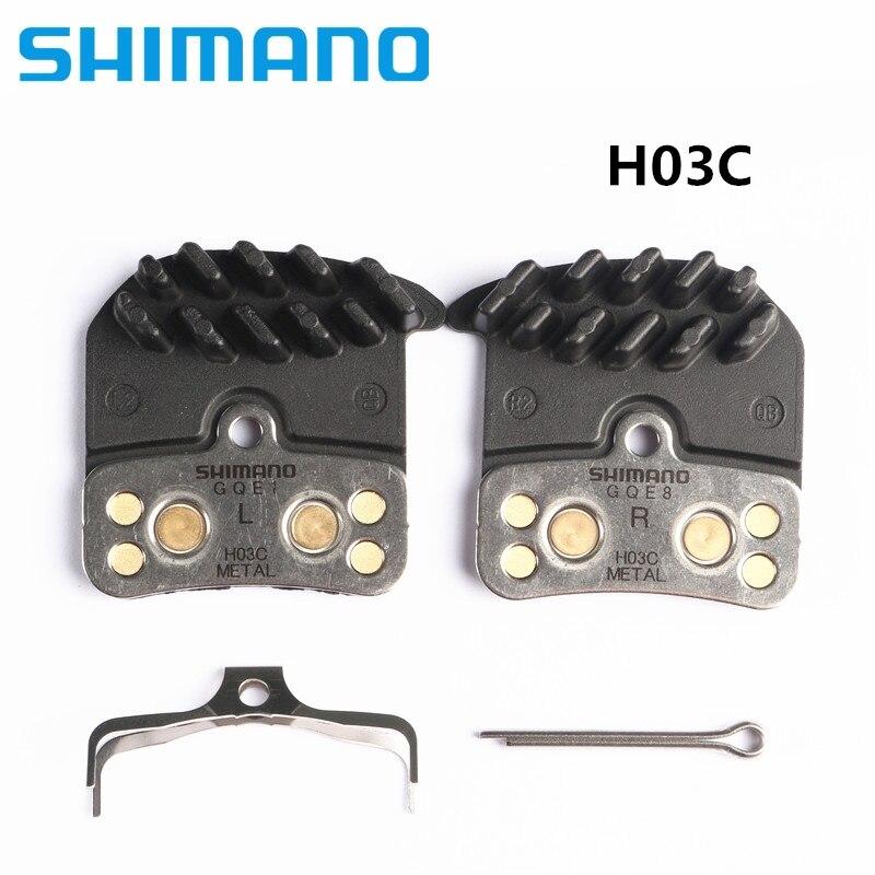 Shimano h03a h03c 디스크 브레이크 패드 saint zee br m820 m640 m8020 수지 금속 핀 패드 세트