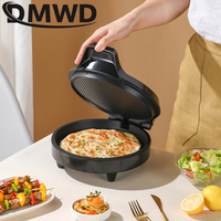 DMWD 220V Electric Baking Pan Double-sided Heating Suspension Type Crepe Maker Skillet Pancake Baking Machine Pie Pizza Griddle