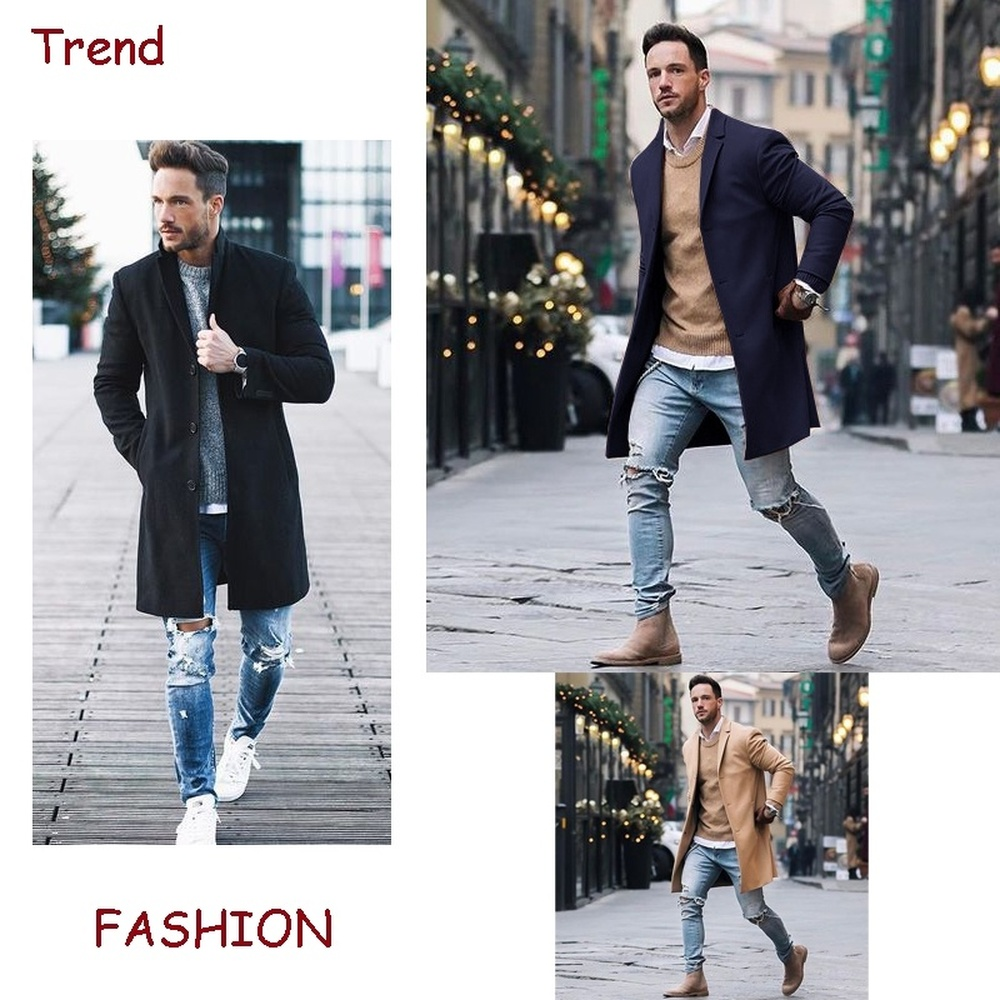 Zogaa 2019 New Winter Wool Coat Men Leisure Long Sections Woolen Coats Men's Pure Color Casual Fashion Jackets Casual Men Coats