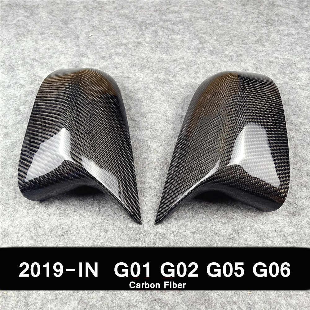 para BMW 2014-2018 F15 X5 F16 X6 F26 X4 F25 X3 ZHHRHC Accesorios Decorativos de Material de Fibra de Carbono para Cubierta de Espejo retrovisor de Coche